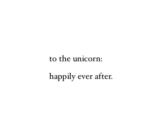 to the unicorn: happily ever after